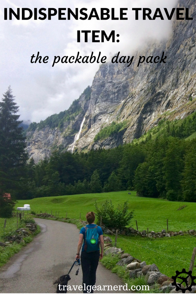 For day outings while you travel, you can't beat having a packable day pack!